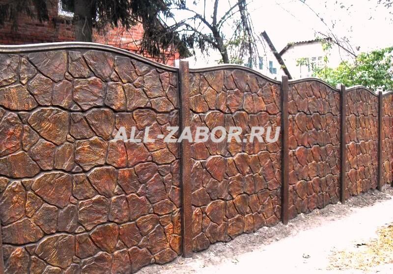 купить забор из бетона в челябинске